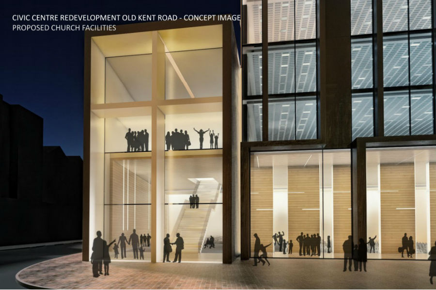 civic centre redevelopment old kent road - concept image